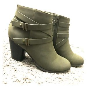 Military green booties